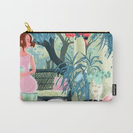 Flowered terrace Carry-All Pouch