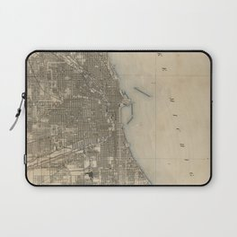 Vintage Map of Chicago (1899) Laptop Sleeve
