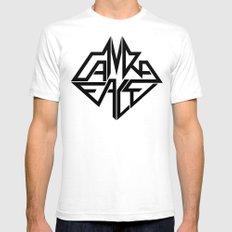 CamRaFace Logo for T-Shirts White SMALL Mens Fitted Tee