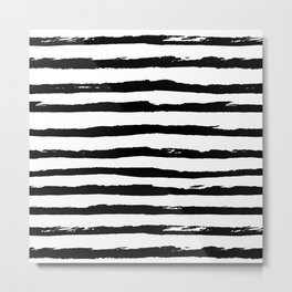 Ink Stripes Metal Print