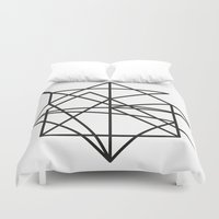 the wire Duvet Covers featuring Wire by FLATOWL