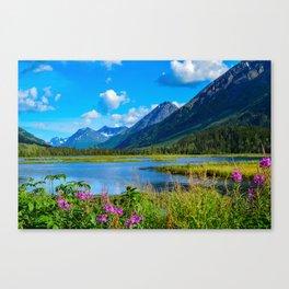 God's Country - II, Alaska Canvas Print
