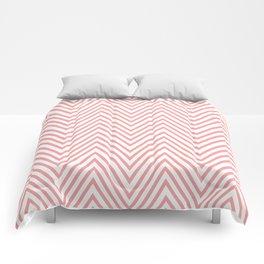 Skinny Coral Chevron Comforters