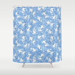 Origami Koi Fishes (Sky Pond Version) Shower Curtain