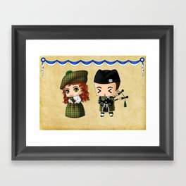 Scottish Chibis Framed Art Print