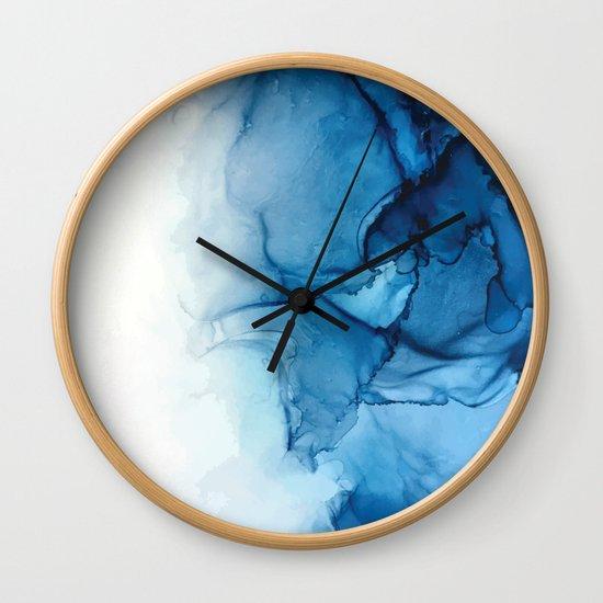 Blue Tides - Alcohol Ink Painting by elizabethschulz