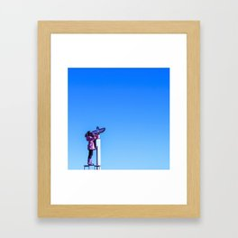 Looking Out Framed Art Print