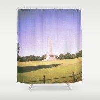 dublin Shower Curtains featuring Dublin Skies by jonnykam