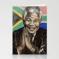 mandela Stationery Cards featuring MANDELA by Stan Kwong