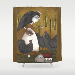 Ira's Hens Shower Curtain