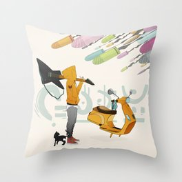 Spring Bullets Throw Pillow