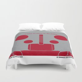 No232 My THOR minimal movie poster Duvet Cover