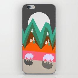 Bears walking home iPhone Skin