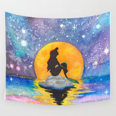 The Little Mermaid Galaxy Wall Tapestry