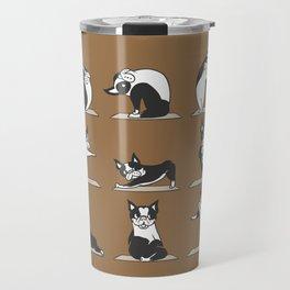 Boston Terriers Yoga Travel Mug