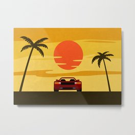 Sunset Cruising Metal Print