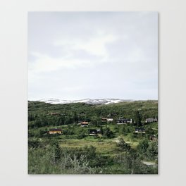 Cabins in the distance Canvas Print