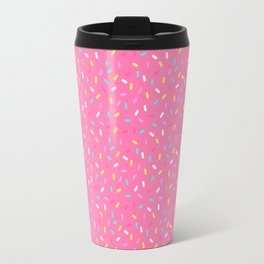 Do-Nut Confetti Sprinkles Pink Travel Mug