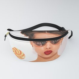 'I Don't Care!' glamour humorous quote sunglasses lollipop female photograph - photography Fanny Pack