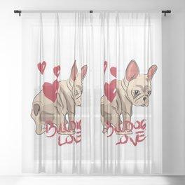 French Bulldog Love Sheer Curtain