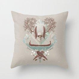 Ghosts of Scandinavia. Iceland. Throw Pillow