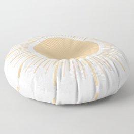 Sun Boho Art Floor Pillow