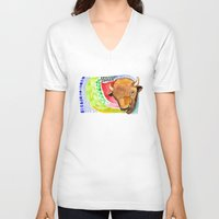 buffalo V-neck T-shirts featuring BUFFALO by dorc