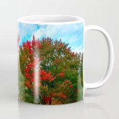 red and blue Mug