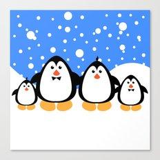 NGWINI - penguin family v3 Canvas Print