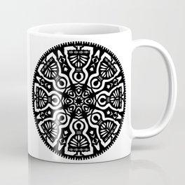Polish Papercut Dancers Black Coffee Mug