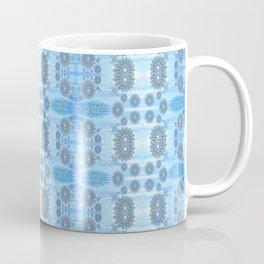 Healing Ultra Blue HD Retro Floral Coffee Mug