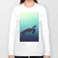 sea turtle Long Sleeve T-shirts featuring Turtle by Rachel's Pet Portraits