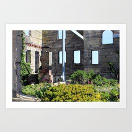 Alcatraz Building Reclaimed by Nature 1 Art Print