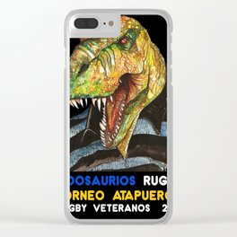INDOSAURIOS RUGBY Clear iPhone Case