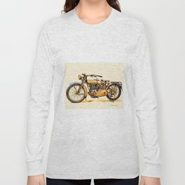 Vintage HD Motorcycle - Circa 1917 Long Sleeve T-shirt