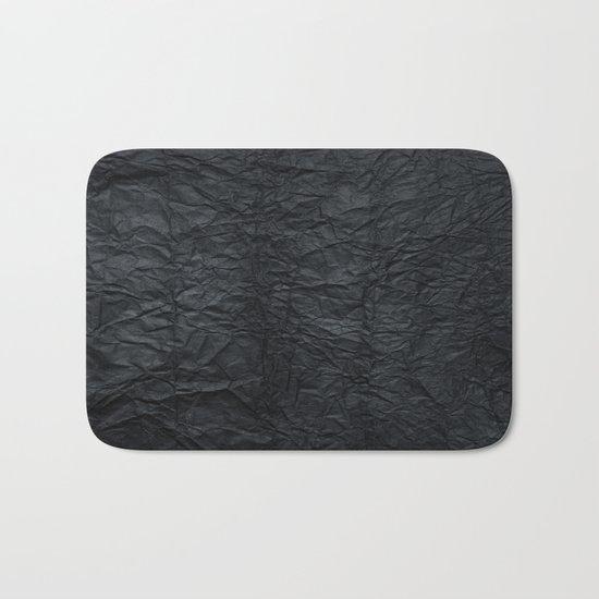 Black paper Bath Mat