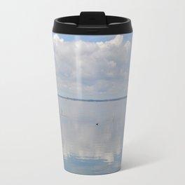 Picture Perfect Blue Sky Water Bay Scene Landscape  Travel Mug