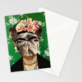 Frida Katy FrenchBulldog Stationery Cards