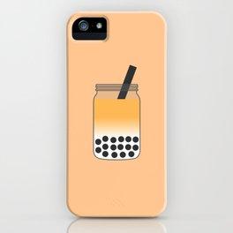 Thai Iced Bubble Tea in Mason Jar iPhone Case