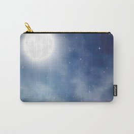 Night sky moon Carry-All Pouch