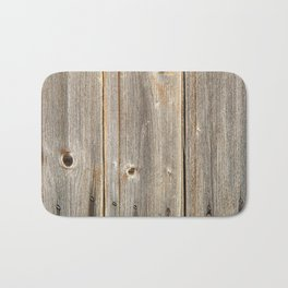Old Rustic Wood Texture Bath Mat