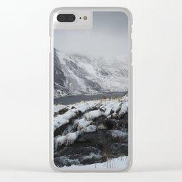mount tryfan snowdonia Clear iPhone Case