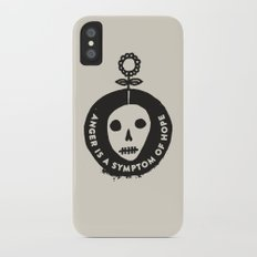 Anger is a symptom of hope Slim Case iPhone X