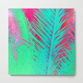 Funky palm leaves Metal Print