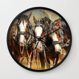 Clydesdale Conversation Wall Clock
