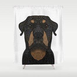 Rottweiler - Teddy Shower Curtain