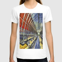 Paddington Railway Station Art T-shirt