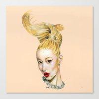 iggy azalea Canvas Prints featuring Iggy Azalea by HOLLYARTT