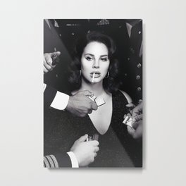 Lana De-l Rey, Stylish Print, Gifts, Modern, Prints Metal Print