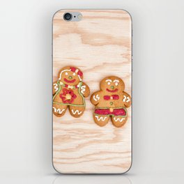 Christmas sweet gingerbread cookies iPhone Skin